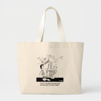 Experiment Cartoon 6904 Large Tote Bag