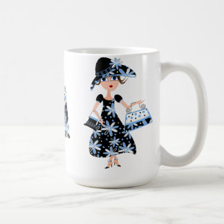 Expert Shopper in Blue Coffee Mug