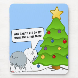 Explain the meaning of Christmas to your dog now! Mouse Pad
