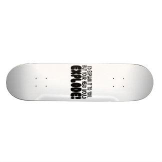 Explanation Would Make Head Explode Custom Skateboard