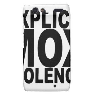 EXPLICIT MOX VIOLENCE T-Shirts png Motorola Droid RAZR Covers