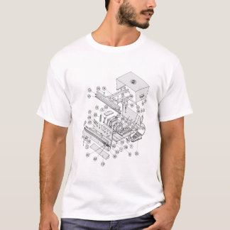 exploded diagram T-Shirt