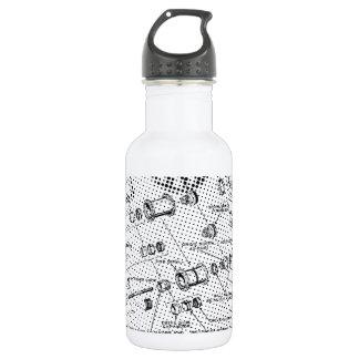 Exploded Hub Diagram (black/white) 532 Ml Water Bottle