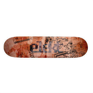exploded view skate deck