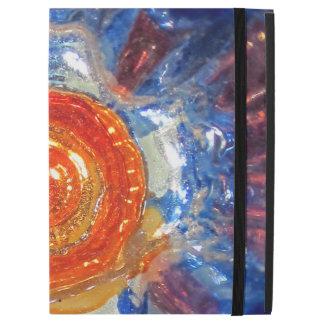 "Exploding Cosmos Art Glass - Van Gogh Orange Sun iPad Pro 12.9"" Case"