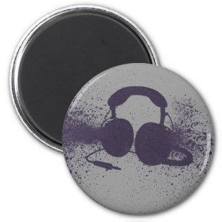 Exploding Headphones 6 Cm Round Magnet