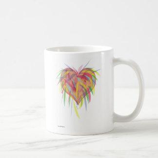 Exploding Heart Basic White Mug