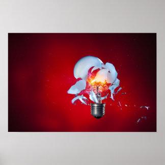 Exploding Light Bulb Print