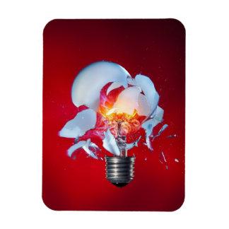 Exploding Light Bulb Rectangular Photo Magnet