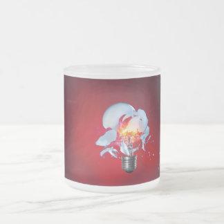 Exploding Lightbulb Frosted Glass Mug