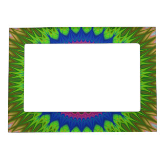 Exploding mandala star magnetic picture frame