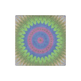 Exploding mandala star stone magnet