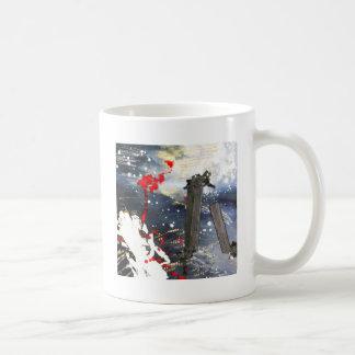 Exploding matchsticks mug
