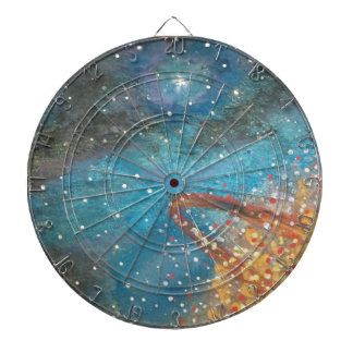 Exploding Planet Dartboard With Darts