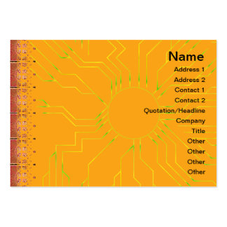 Exploding Planet Grid Business Card Template