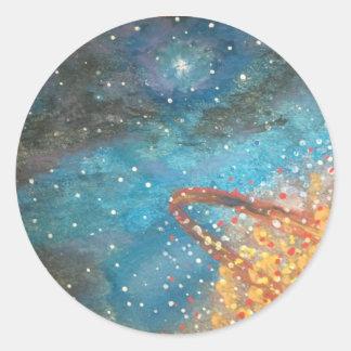 Exploding Planet Round Sticker