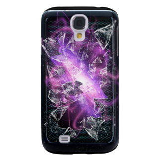 Exploding Purple Galaxy Illusion Samsung Galaxy S4 Covers
