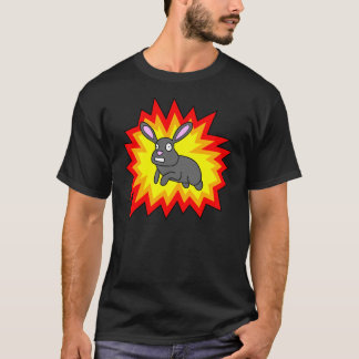 Exploding Rabbit Dark Shirt