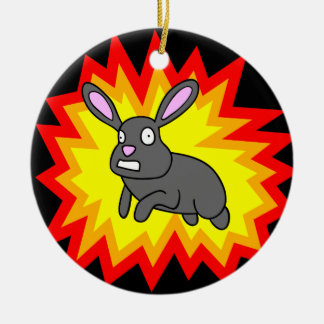 Exploding Rabbit Ornament