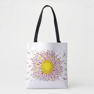 Exploding Sun Tote Bag