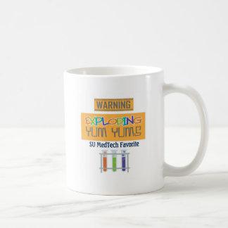 exploding yums basic white mug