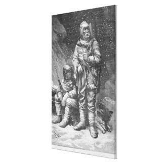 Exploration costumes stretched canvas print