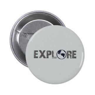 Explore 6 Cm Round Badge