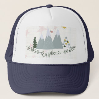 Explore America patriotic trucker hat