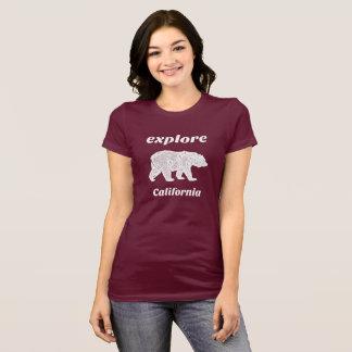 Explore California Bear Forrest Nature T-Shirt
