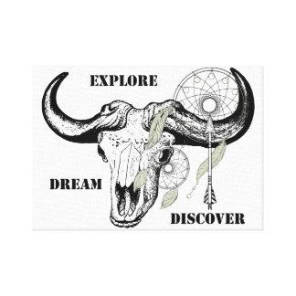 Explore Dream Discover Canvas Print