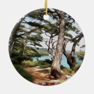 Explore Dream Discover Ceramic Ornament