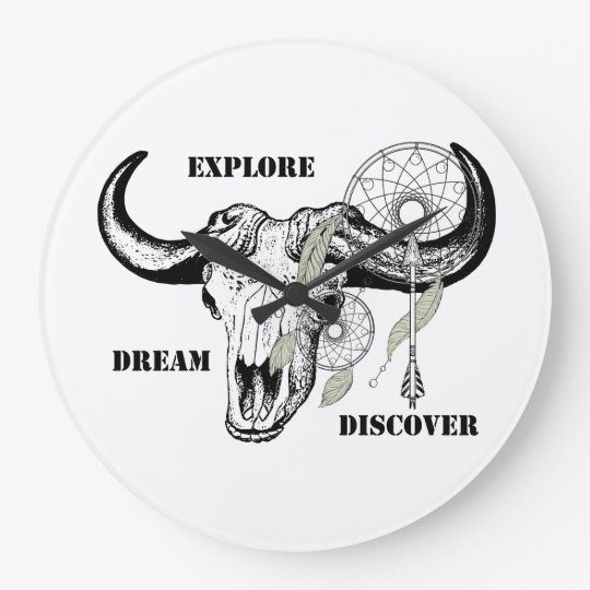 Explore Dream Discover Large Clock