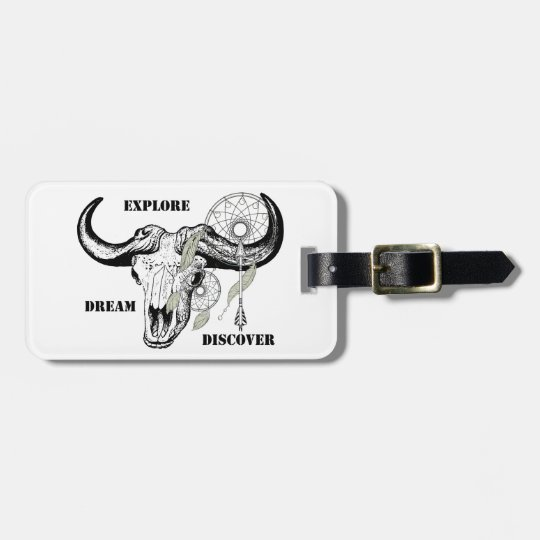 Explore Dream Discover Luggage Tag