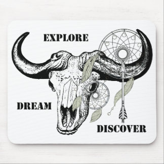 Explore Dream Discover Mouse Pad