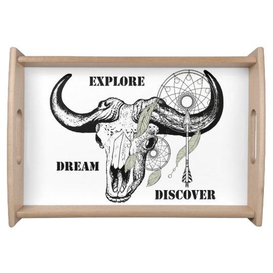 Explore Dream Discover Serving Tray