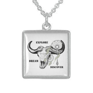 Explore Dream Discover Sterling Silver Necklace