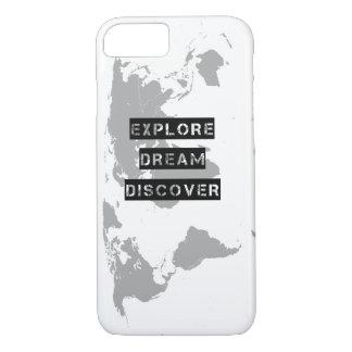 Explore Dream Discover World Map iPhone 7 Case