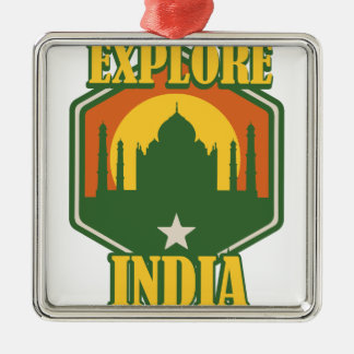 Explore India Metal Ornament