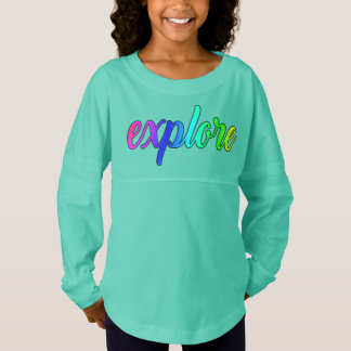 Explore Jersey Oversized Girls Tunic Shirt