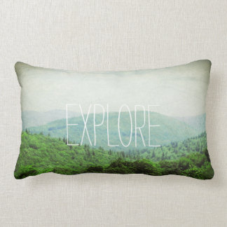 EXPLORE lumbar pillow, start an adventure Lumbar Pillow