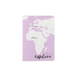 Explore Map Passport Cover