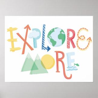 Explore More - Children's Art Poster