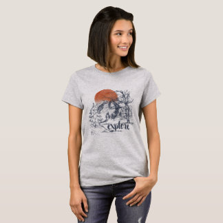 Explore Mountain Forest Trees Wilderness T-Shirt
