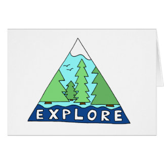 Explore Nature Outdoors Mountain Blank Note Card