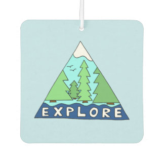 Explore Nature Outdoors Travel City Roadtrip Car Air Freshener