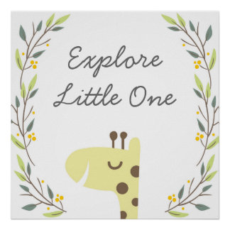 Explore - Nursery Art Decor Poster