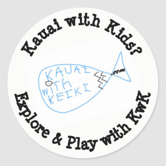 Explore & Play wth KwK Decal Classic Round Sticker