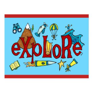 Explore! Postcard