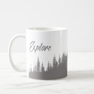 Explore the forest pretty coffee mug