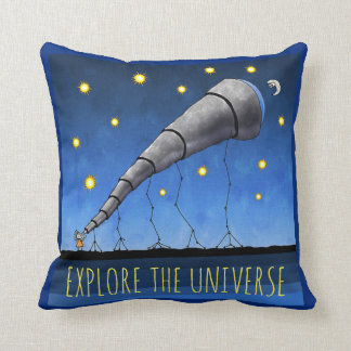 Explore the Universe Telescope and Text Cushion